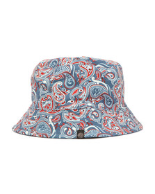Pretty Green Mens Blue Camley Bucket Hat