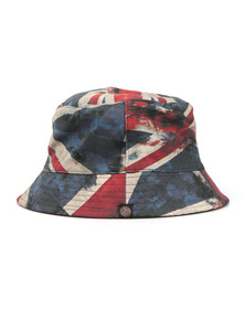 Pretty Green Mens Red Union Jack Bucket Hat