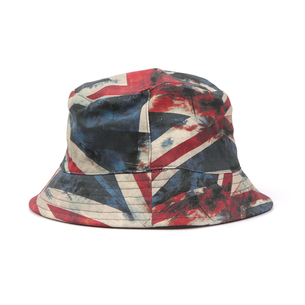 Pretty Green Mens Red Union Jack Bucket Hat 6a93716b1a81
