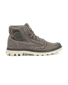 Palladium Mens Grey Pampa Hi Canvas Boot