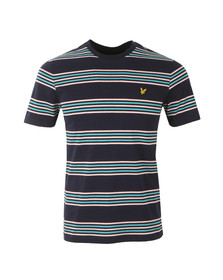 Lyle and Scott Mens Blue S/S Stripe Tee
