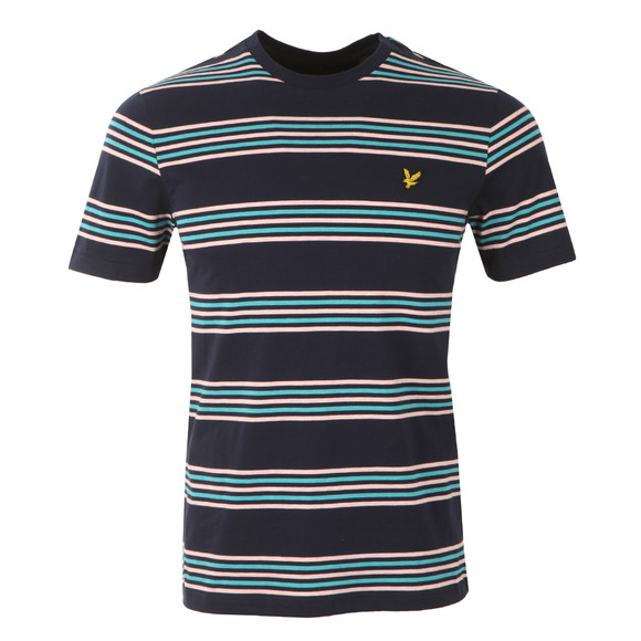 Lyle and Scott Mens Blue S/S Stripe Tee main image