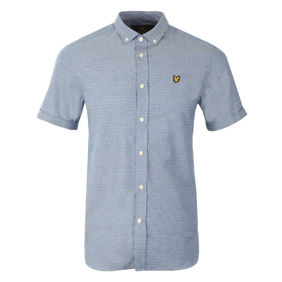 Lyle and Scott Mens Blue S/S Coloured Stitch Shirt main image