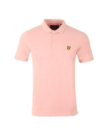 Lyle and Scott Mens Pink S/S Polo