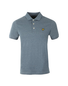 Lyle and Scott Mens Blue S/S Mouline Polo