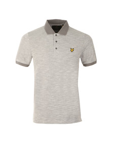 Lyle and Scott Mens Grey S/S Oxford Slub Polo