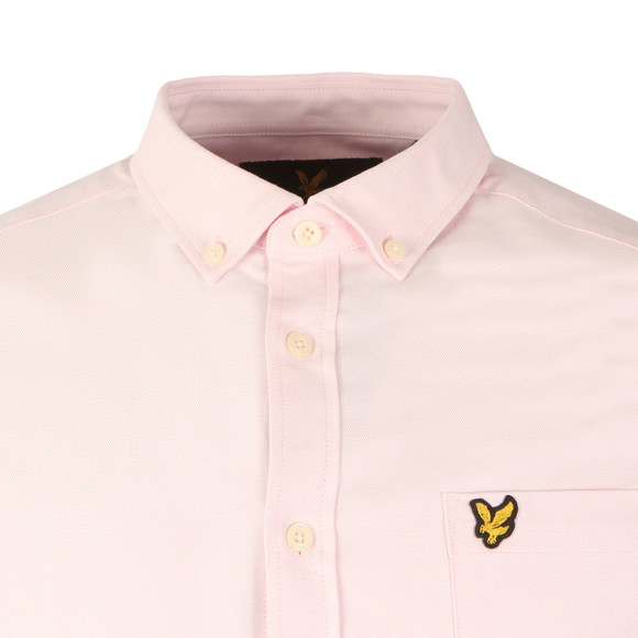 Lyle and Scott Mens Pink L/S Oxford Shirt main image