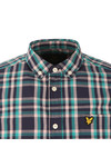 Lyle and Scott Mens Blue L/S Check Shirt
