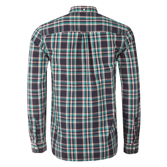 Lyle and Scott Mens Blue L/S Check Shirt main image
