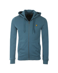 Lyle and Scott Mens Blue Full Zip Hooded Sweat