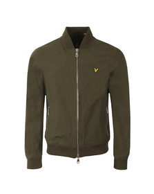 Lyle and Scott Mens Green Bomber Jacket