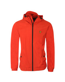 Lyle and Scott Mens Orange Zip Through Hooded Jacket