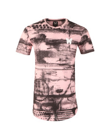Good For Nothing Mens Pink Abstract T Shirt