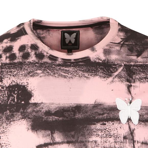 Good For Nothing Mens Pink Abstract T Shirt main image