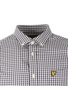 Lyle and Scott Mens Blue L/S Gingham Check Shirt
