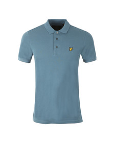 Lyle and Scott Mens Blue S/S Plain Polo