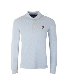 Lyle and Scott Mens Blue L/S Polo