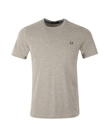 Fred Perry Mens Grey S/S Textured Tee