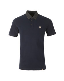 Pretty Green Mens Blue Mayflower Collar Polo
