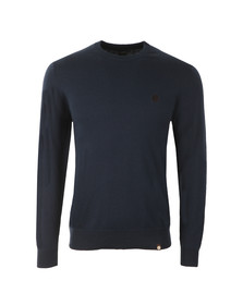 Pretty Green Mens Blue Mandeville Crew Neck Jumper