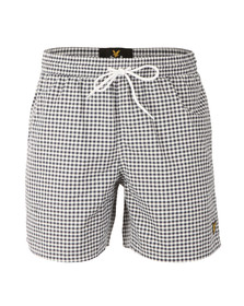 Lyle and Scott Mens Blue Gingham Check Short