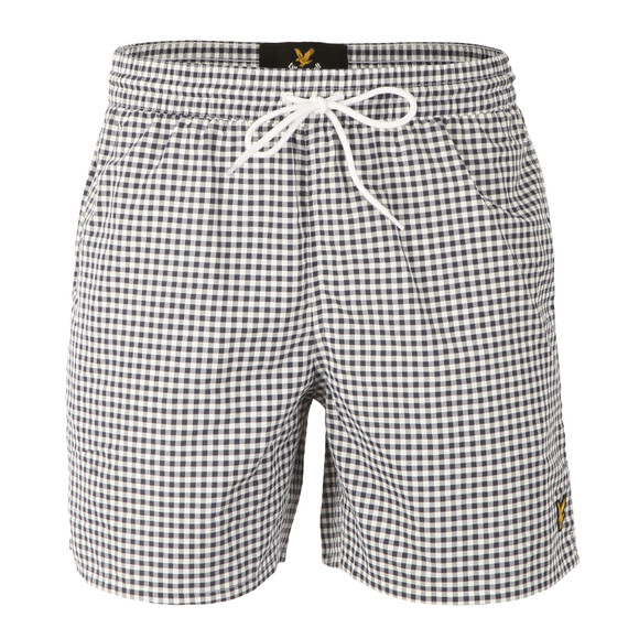 Lyle and Scott Mens Blue Gingham Check Short main image
