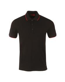 Hugo Mens Black Delorian Tipped Polo Shirt