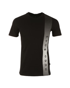 Boss Mens Black Side Logo T Shirt