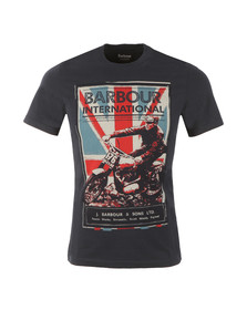 Barbour International Mens Blue S/S Jack Tee