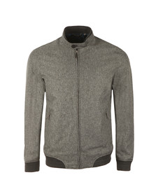 Ted Baker Mens Grey Apollo Mouline Bomber