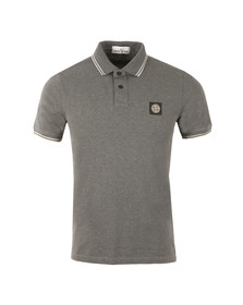 Stone Island Mens Grey Tipped Polo