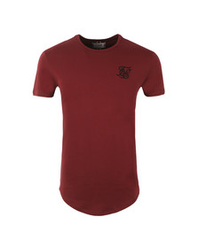 Sik Silk Mens Red Short Sleeve Gym T Shirt