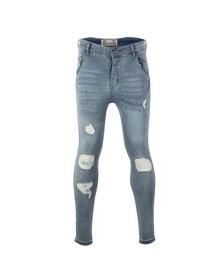 Sik Silk Mens Blue Skinny Jeans