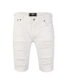 Sik Silk Mens White Distressed Denim Shorts