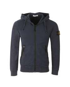Stone Island Mens Blue Full Zip Sleeve Badge Hoody