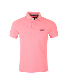 Superdry Mens Pink Superdry Classic New Fit Polo