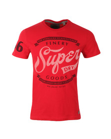 Superdry Mens Red S/S Finery Tee