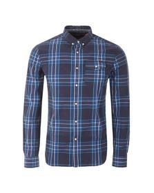 Superdry Mens Blue L/S Washbasket  Shirt