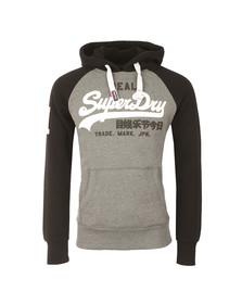Superdry Mens Grey Vintage Logo Raglan Hood