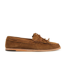 H By Hudson Mens Brown Manuel Suede Loafers
