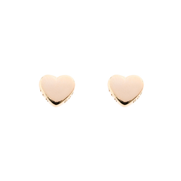 Ted Baker Womens Gold Harly Tiny Heart Stud Earring