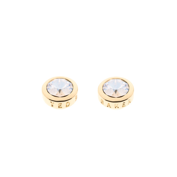Ted Baker Womens Gold Sinaa Crystal Stud Earrings main image