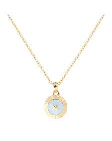 Ted Baker Womens Gold Emmalyn Enamel Big Button Pendant
