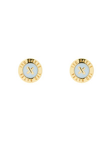 Ted Baker Womens Gold Eisley Enamel Mini Button Earrings