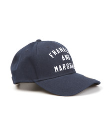 Franklin & Marshall Mens Blue Embroidered Logo Cap