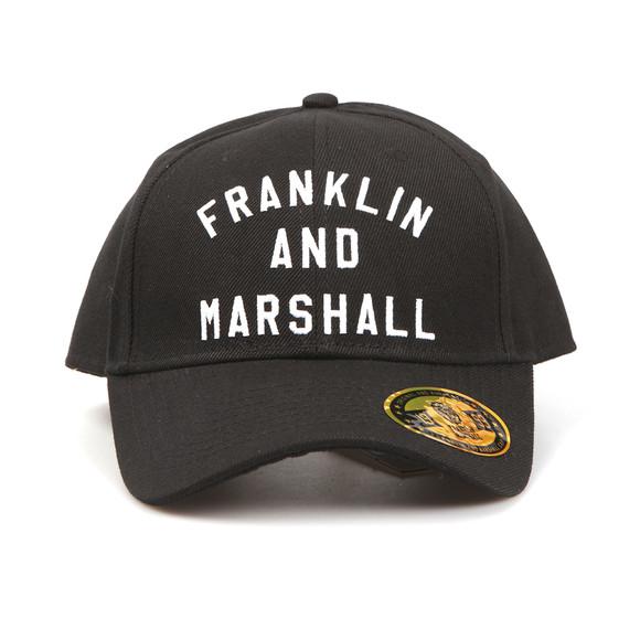 Franklin & Marshall Mens Black Embroidered Logo Cap  main image