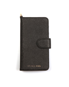 Michael Kors Womens Black Saffiano Leather Folio Phone Case