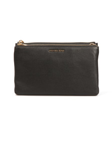 Michael Kors Womens Black Adele Double Zip Crossbody