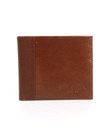 Ted Baker Mens Brown Contrast Spine Leather Wallet