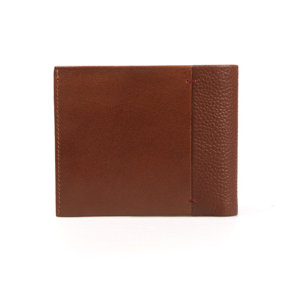 Ted Baker Mens Brown Contrast Spine Leather Wallet main image